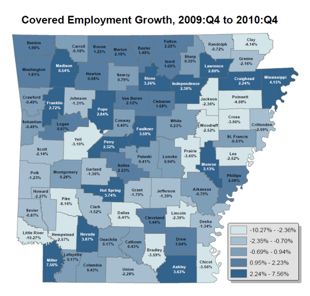 Source:  Bureau of Labor Statistics, Quarterly Census of Employment and Wages
