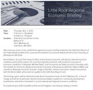 Regional Economic Briefing