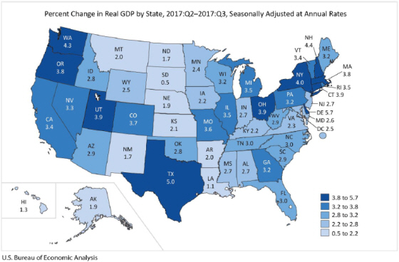 GDP 2017Q3 map
